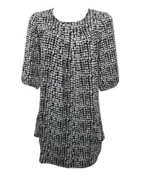 Spotted Print Tunic Top